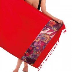 Πετσέτα Θαλάσσης Guy Laroche Pestemal 02 Red
