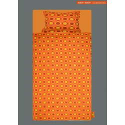 Σετ Παπλωματοθήκη Μονή NEF-NEF Smile Orange