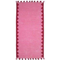 Βαμβακερά Χαλιά Pom-Pom Pink