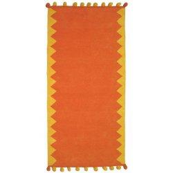 Βαμβακερά Χαλιά Pom-Pom Orange