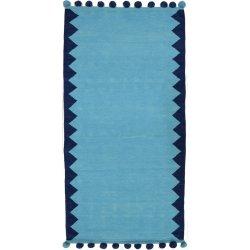 Βαμβακερά Χαλιά Pom-Pom Blue