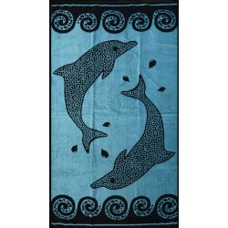 Πετσέτα Θαλάσσης Dolphins Blue