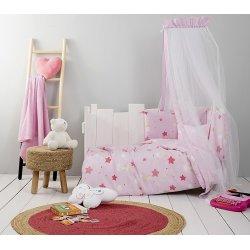 Σετ Σεντόνια Κούνιας Star Pink -Nima Home