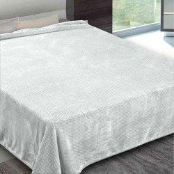 Κουβέρτα Βελουτέ Υπέρδιπλη Adam-Home interweaving silver