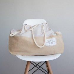 Τσάντα Θαλάσσης Spiaggia Light Gray-Nima Home