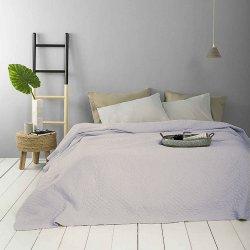 Κουβερλί Βαμβακερό Υπέρδιπλο Serenity Light Blue-Nima Home