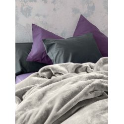 Κουβέρτα Βελουτέ Nima Home Coperta Light Grey 1,60x2,20