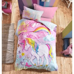 Σετ Σεντόνια Παιδικά Βαμβακερά Unicorn