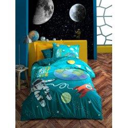 Σετ Σεντόνια Παιδικά Βαμβακερά Space