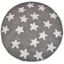 Βαμβακερά Χαλιά Στρογγυλά Piccolo Stars Silver