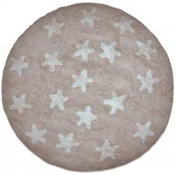 Βαμβακερά Χαλιά Στρογγυλά Piccolo Stars Beige