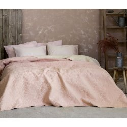 Κουβερλί Υπέρδιπλο Foglie Pink-Ivory Nima Home